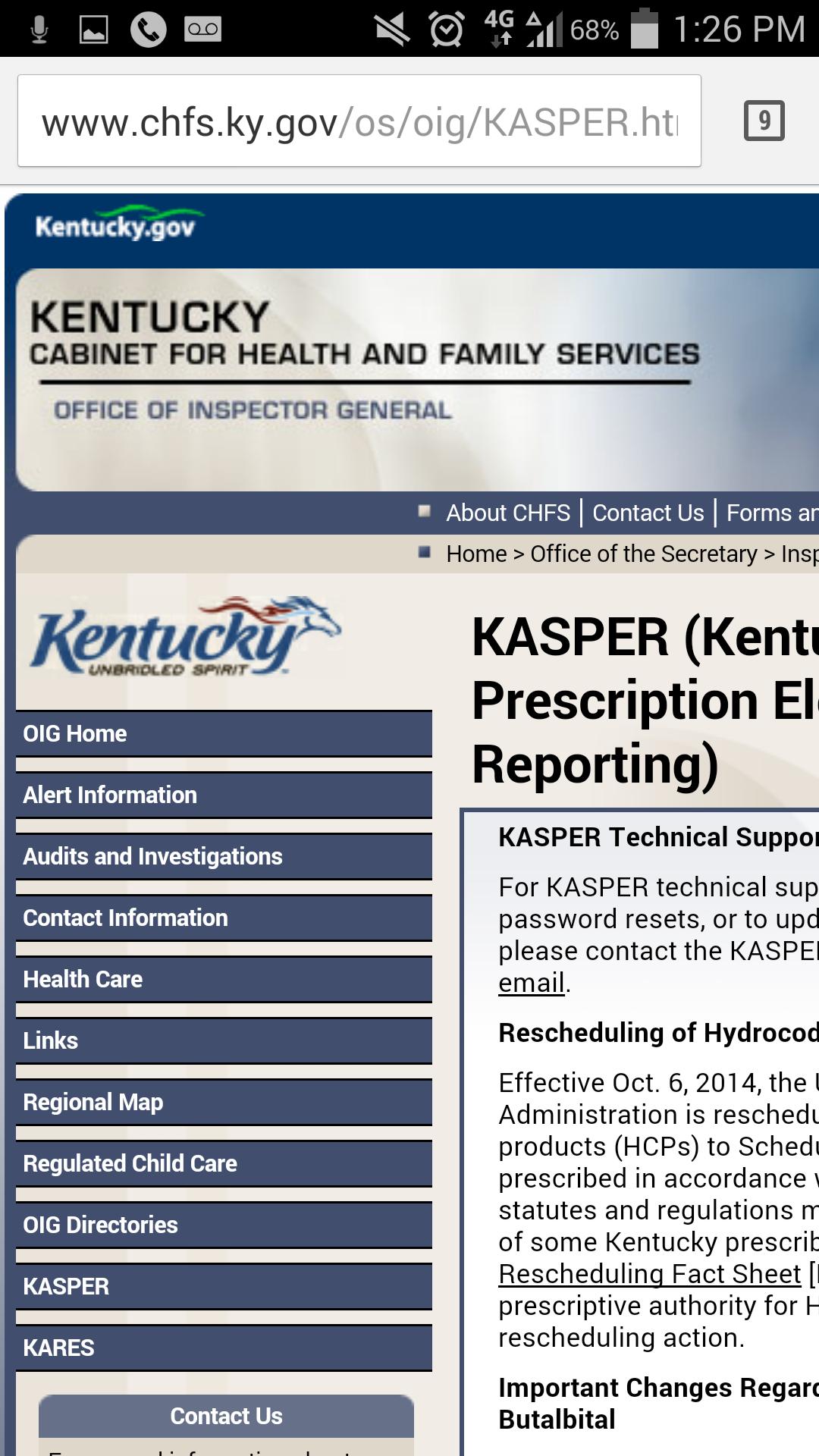 Kentucky KASPER