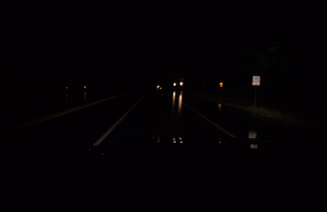 Night Shot - Traffic Collision Investigation